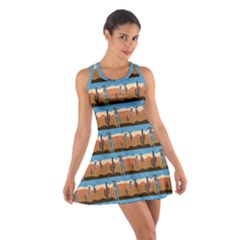 Desert Meercats Cotton Racerback Dress by ChihuahuaShower