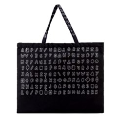 Zodiac Killer  Zipper Large Tote Bag by Valentinaart
