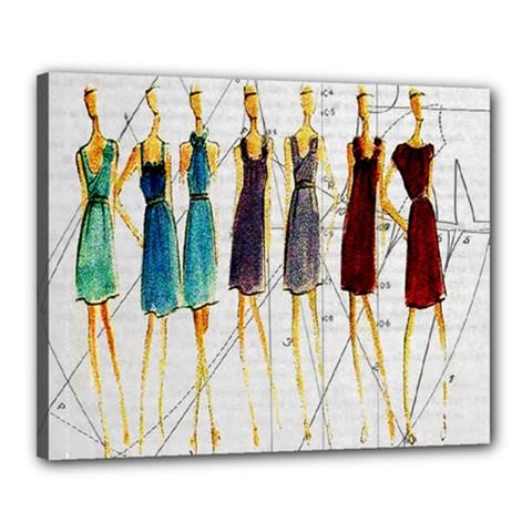 Fashion Sketch  Canvas 20  X 16  by Valentinaart