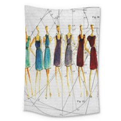 Fashion Sketch  Large Tapestry by Valentinaart