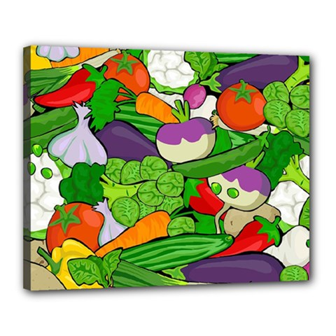 Vegetables  Canvas 20  X 16  by Valentinaart