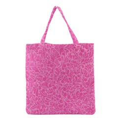 Pink Pattern Grocery Tote Bag by Valentinaart