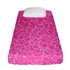 Pink Pattern Fitted Sheet (single Size) by Valentinaart