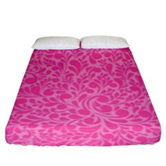 Pink Pattern Fitted Sheet (king Size) by Valentinaart