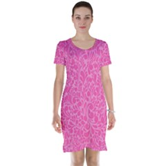 Pink Pattern Short Sleeve Nightdress by Valentinaart