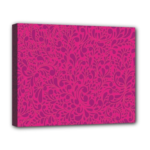 Pink Pattern Deluxe Canvas 20  X 16   by Valentinaart