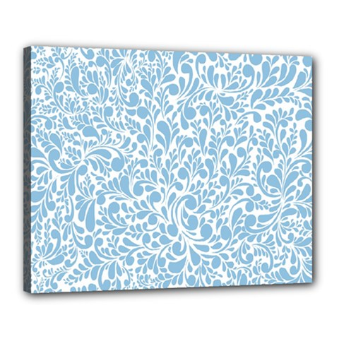 Blue Pattern Canvas 20  X 16  by Valentinaart