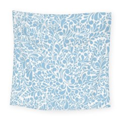 Blue Pattern Square Tapestry (large) by Valentinaart