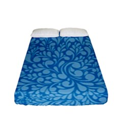 Blue Pattern Fitted Sheet (full/ Double Size) by Valentinaart