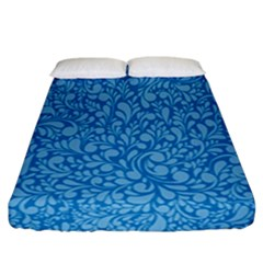 Blue Pattern Fitted Sheet (california King Size) by Valentinaart