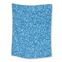 Blue Pattern Medium Tapestry by Valentinaart