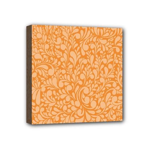 Orange Pattern Mini Canvas 4  X 4  by Valentinaart