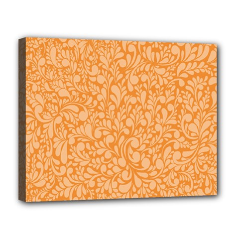 Orange Pattern Canvas 14  X 11  by Valentinaart