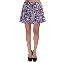 Purple Pattern Skater Skirt by Valentinaart