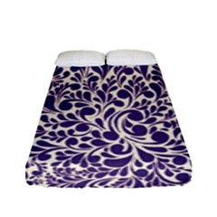Purple Pattern Fitted Sheet (full/ Double Size) by Valentinaart