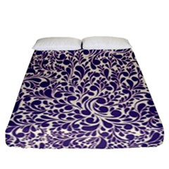 Purple Pattern Fitted Sheet (california King Size) by Valentinaart