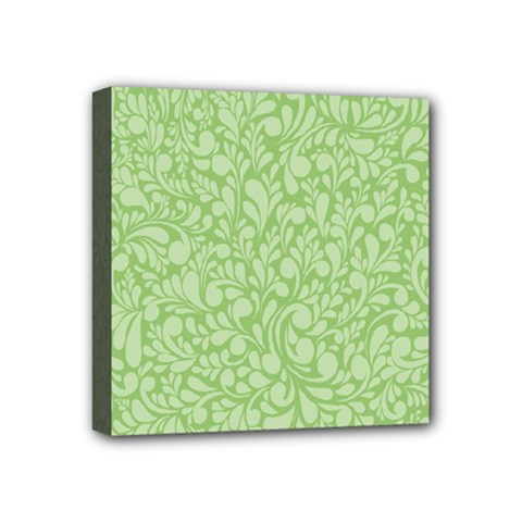 Green Pattern Mini Canvas 4  X 4  by Valentinaart
