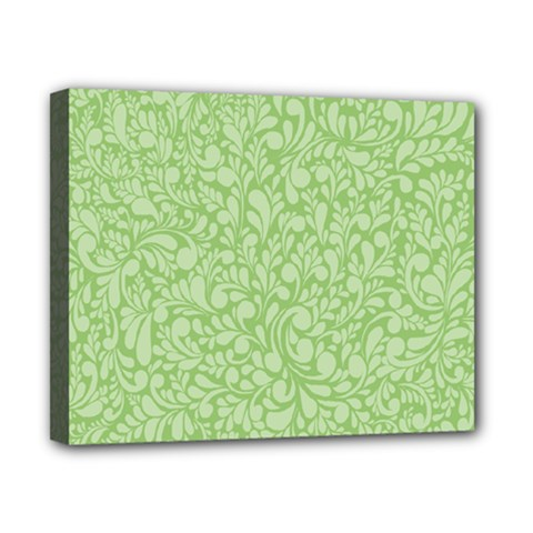 Green Pattern Canvas 10  X 8  by Valentinaart