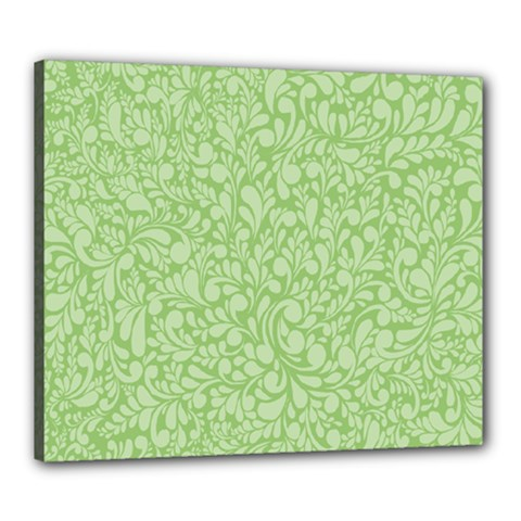 Green Pattern Canvas 24  X 20  by Valentinaart
