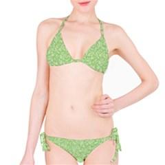 Green Pattern Bikini Set by Valentinaart
