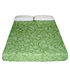 Green Pattern Fitted Sheet (king Size) by Valentinaart