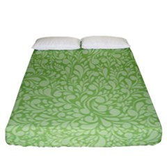 Green Pattern Fitted Sheet (california King Size) by Valentinaart