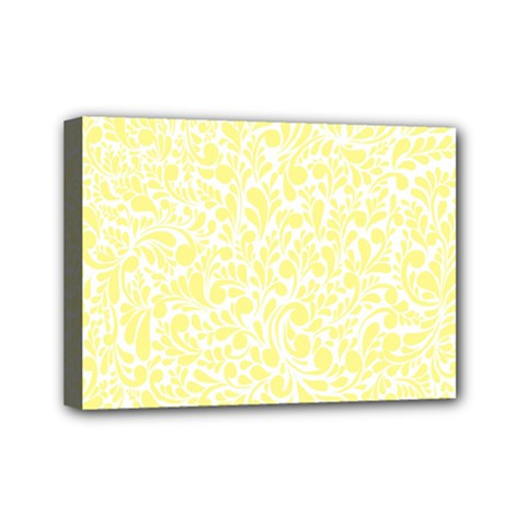 Yellow Pattern Mini Canvas 7  X 5  by Valentinaart
