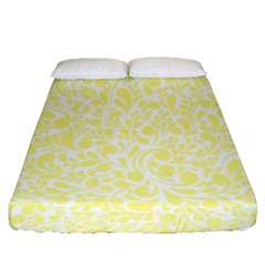Yellow Pattern Fitted Sheet (queen Size) by Valentinaart