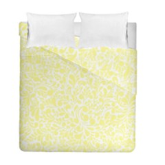 Yellow Pattern Duvet Cover Double Side (full/ Double Size) by Valentinaart