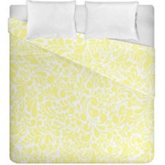 Yellow Pattern Duvet Cover Double Side (king Size) by Valentinaart