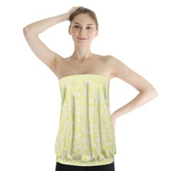 Yellow Pattern Strapless Top by Valentinaart