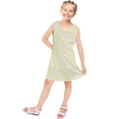 Yellow Pattern Kids  Tunic Dress by Valentinaart
