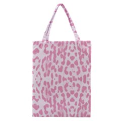 Leopard Pink Pattern Classic Tote Bag by Valentinaart