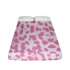 Leopard Pink Pattern Fitted Sheet (full/ Double Size) by Valentinaart