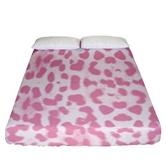 Leopard Pink Pattern Fitted Sheet (king Size) by Valentinaart