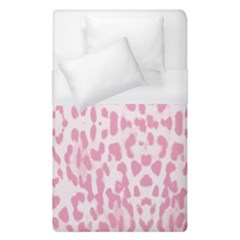 Leopard Pink Pattern Duvet Cover (single Size) by Valentinaart