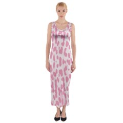 Leopard Pink Pattern Fitted Maxi Dress by Valentinaart