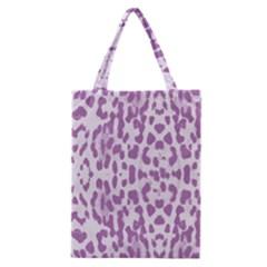 Purple Leopard Pattern Classic Tote Bag by Valentinaart
