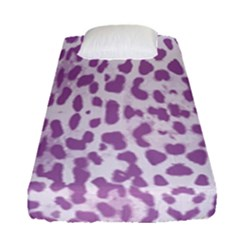 Purple Leopard Pattern Fitted Sheet (single Size) by Valentinaart