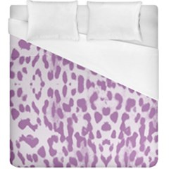 Purple Leopard Pattern Duvet Cover (king Size) by Valentinaart