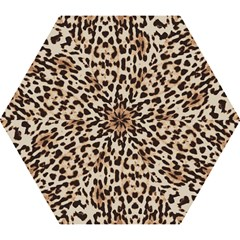 Leopard Pattern Mini Folding Umbrellas by Valentinaart