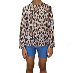 Leopard Pattern Kids  Long Sleeve Swimwear by Valentinaart