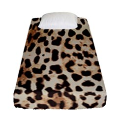 Leopard Pattern Fitted Sheet (single Size) by Valentinaart
