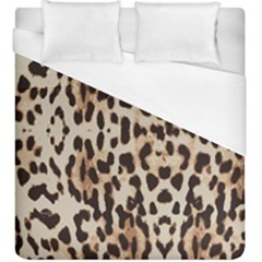 Leopard Pattern Duvet Cover (king Size) by Valentinaart
