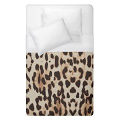 Leopard Pattern Duvet Cover (single Size) by Valentinaart