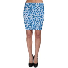 Blue Leopard Pattern Bodycon Skirt by Valentinaart