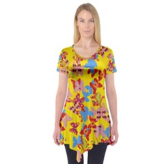 Butterflies  Short Sleeve Tunic  by Valentinaart