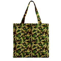 Camo Woodland Grocery Tote Bag by sifis