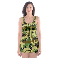 Camo Woodland Skater Dress Swimsuit by sifis