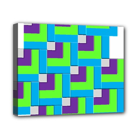 Geometric 3d Mosaic Bold Vibrant Canvas 10  X 8  by Amaryn4rt